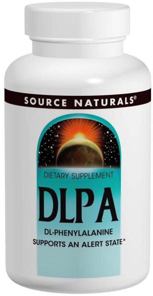 DLPA (фенилаланин) Source Naturals DLPA 375 мг (120 таблеток)