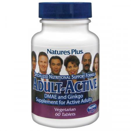 Комплекс для Поддержания Энергии у Взрослых Natures Plus Adult-Active (60 таблеток)