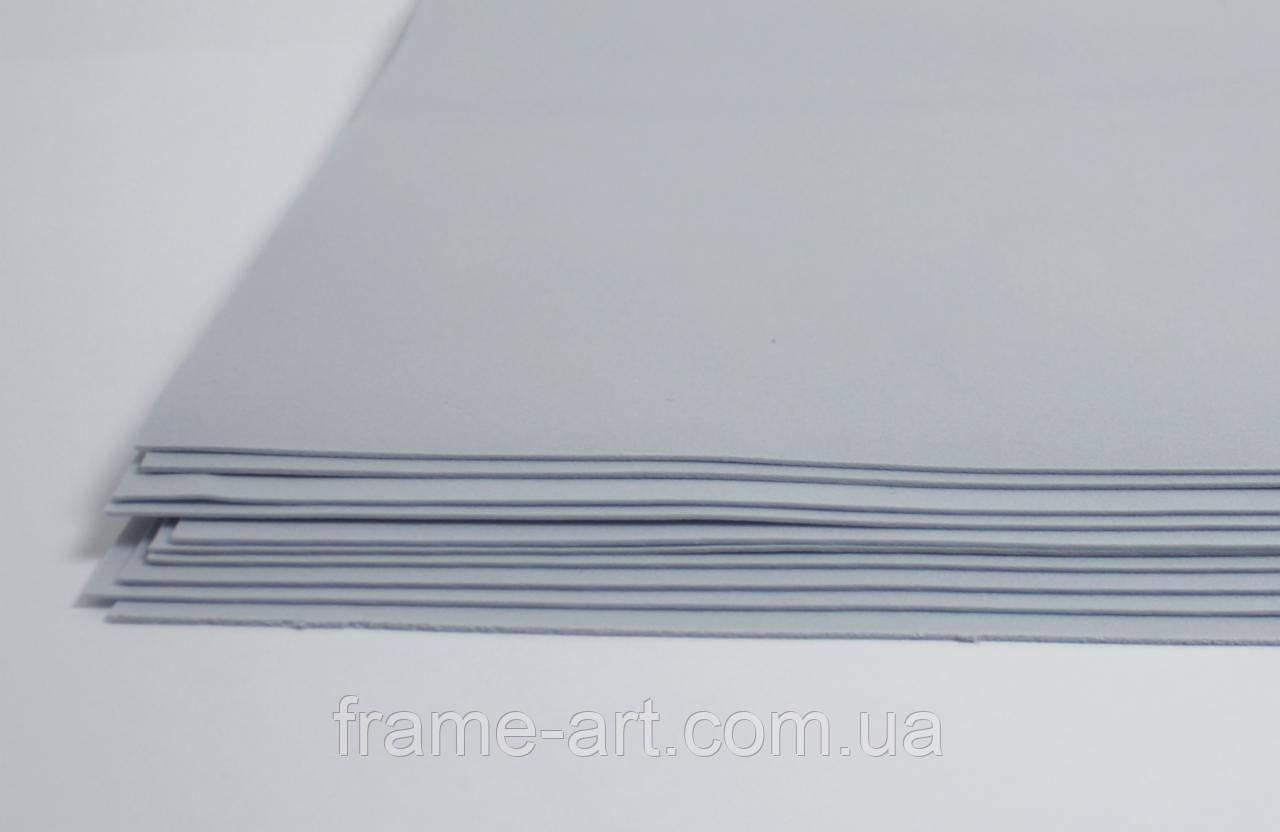 Фоамиран китайский 2мм 20*30см серый 570445