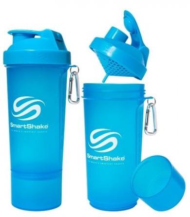 Шейкер SmartShake Slim NEON Blue (500 мл)