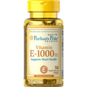 Витамин Е Puritan's Pride Vitamin E-1000 IU (50 капс)