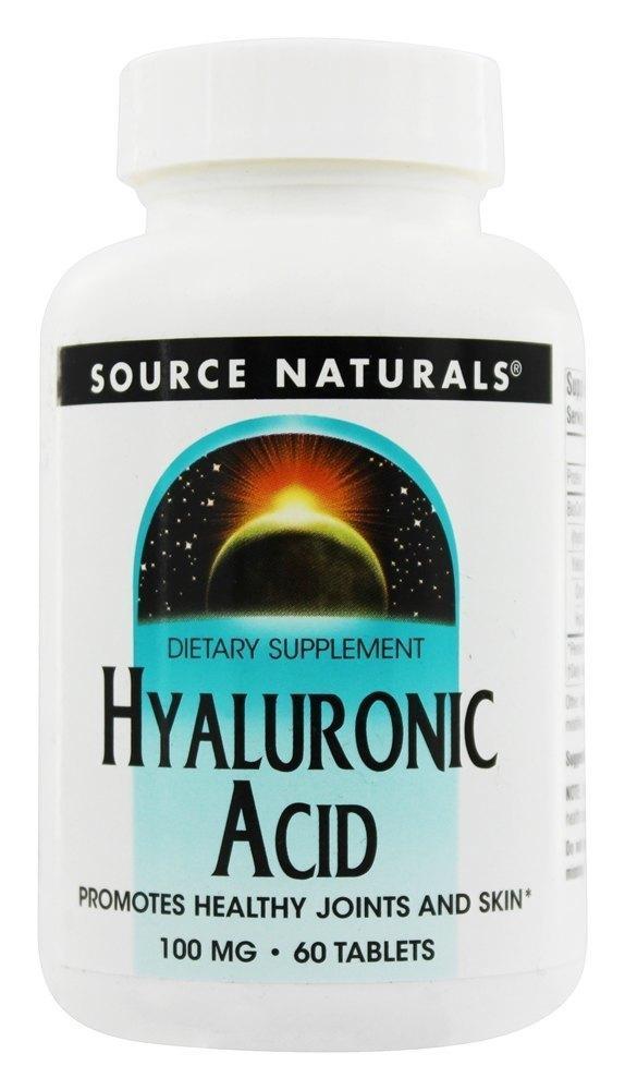 Препарат для восстановления суставов и связок Source Naturals Hyaluronic Acid 100 мг (60 таблеток)