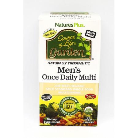 Органические Ежедневные Витамины для Мужчин Natures Plus Source of Life Garden Men's Once Daily Multi (30