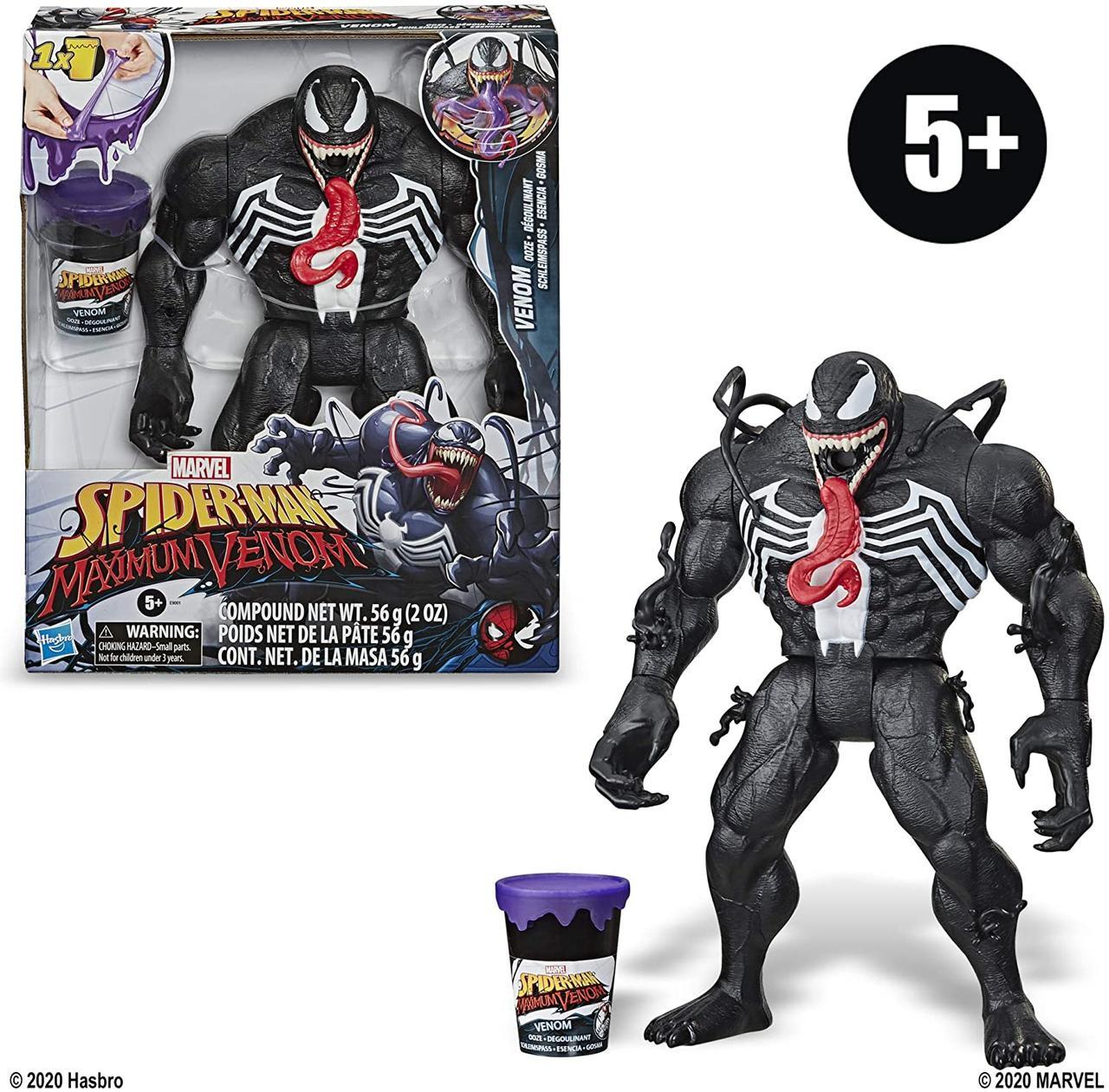 Большая фигурка Веном 30 см со слизью Venom Ooze Figure with Ooze-Slinging Action, Hasbro Оригинал из США