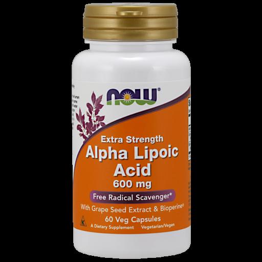 Альфа-липоевая кислота NOW Alpha Lipoic Acid (600 мг) (60 капс)
