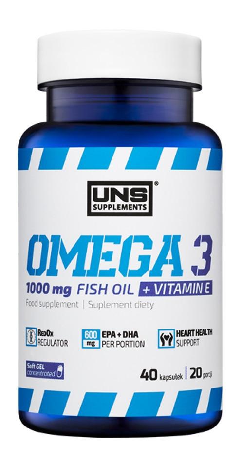 Комплекс незаменимых жирных кислот UNS Omega 3 1000 mg (40 капс)