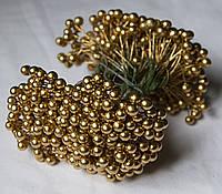 Ягода на проволке 8мм золото
