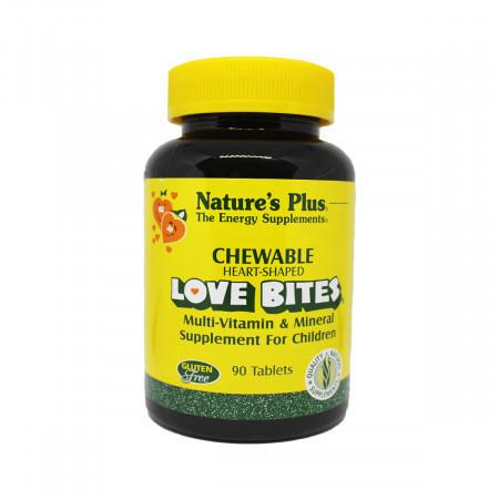 Детский Мультивитаминный и Мультиминеральный Комплекс Natures Plus Love Bites (90 таблеток)