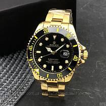 Часы мужские наручные механические с автоподзаводом  Rolex Submariner Automatic Gold-Black Реплика Ролекс, фото 3