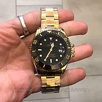 Часы мужские наручные механические с автоподзаводом  Rolex Submariner Automatic Gold-Black Реплика Ролекс, фото 2