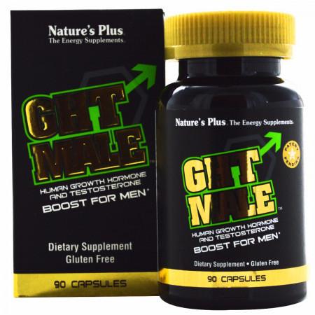 Усилитель Тестостерона для Мужчин Natures Plus GHT Male (90 гелевих капсул)