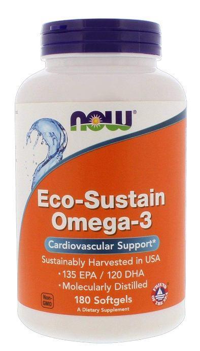 Комплекс незаменимых жирных кислот NOW Eco Sustain Omega 3 (180 капс)