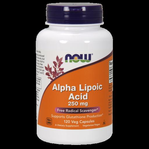 Альфа-липоевая кислота NOW Alpha Lipoic Acid (250 мг) (120 капс)