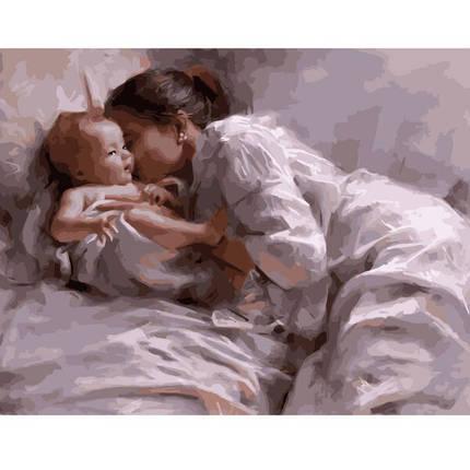 KMVA-1614 Картина по номерам Мама с младенцем, 40х50 см, фото 2