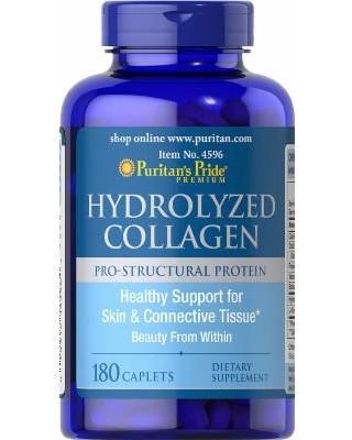 Препарат для восстановления суставов и связок Puritan's Pride Hydrolyzed Collagen 1000 мг (180 капс)