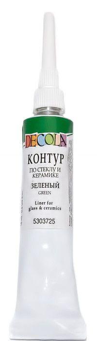 Контур Decola по стеклу и керамике 18мл зеленый