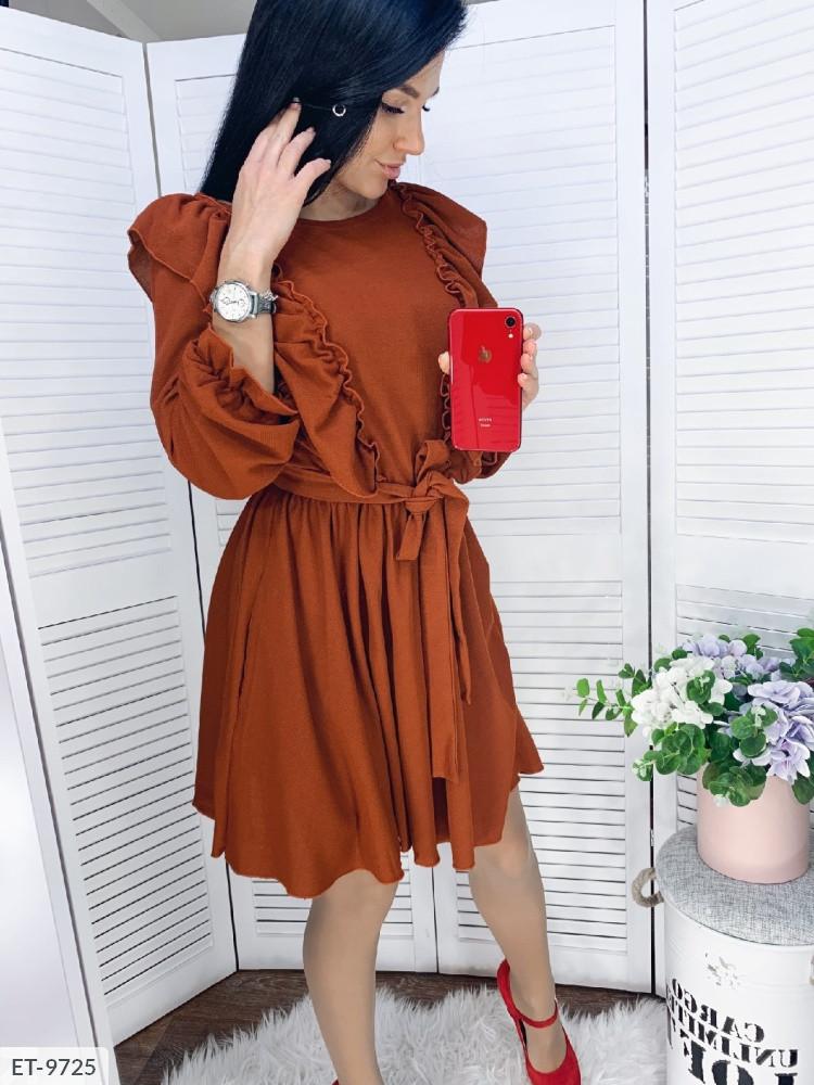 """Чарівне ошатне плаття """"Лакост Кльош Рюші"""" в кольорах (DG-з 504)"""