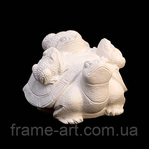 Фигурка для раскрашивания, гипс а01006-04 Жабы на черепахе