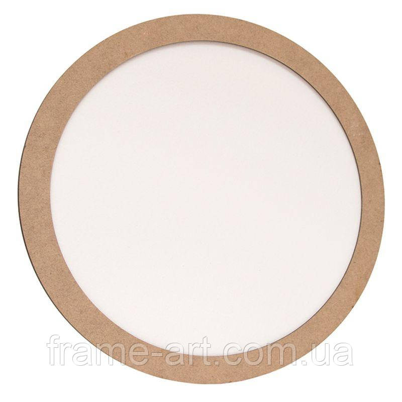 Полотно на картоне круглое d15см в багетной раме с МДФ 2,5см ROSA Talent