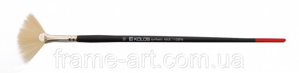 Щетина веерная Milk 1108FN №10 д.р.кисть KOLOS