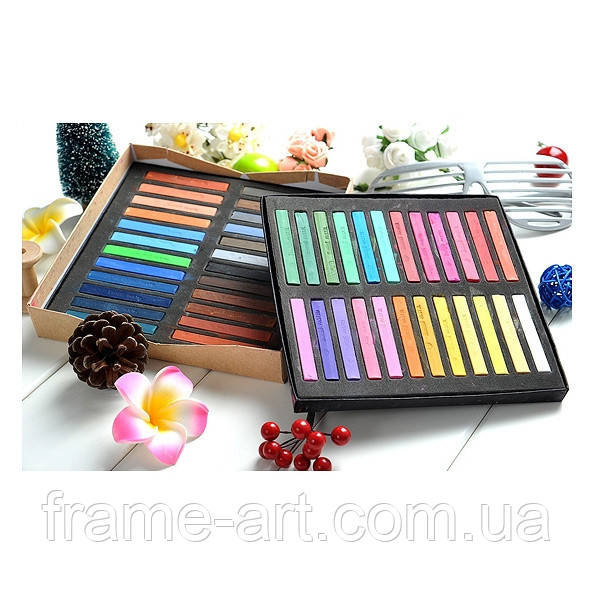 Набор пастели сухой 48 цветов Maries 204848