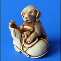 Фигурка ручной работы, гипс n01010-03 Собачка в ботинке