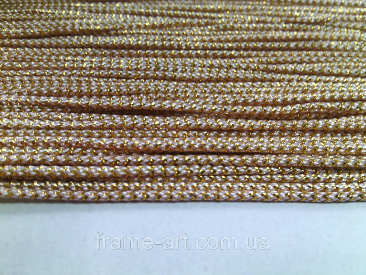 Шнур люрекс 2мм Цвет-21 gold 964/50