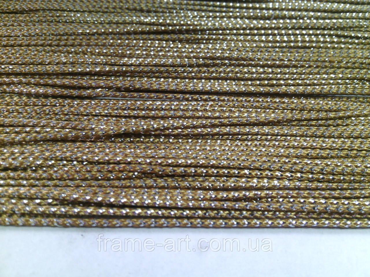 Шнур люрекс 2мм Цвет10 silver 964/50