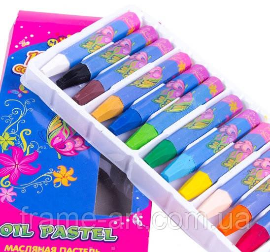 Масляная пастель Мультяшки 12 цветов для рисования