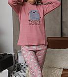 Женская домашняя пижама супер качества со штанами новогодние разные принты, фото 4