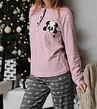 Женская домашняя пижама супер качества со штанами новогодние разные принты, фото 3