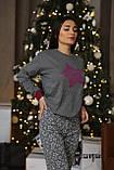 Женская домашняя пижама супер качества со штанами новогодние разные принты, фото 6