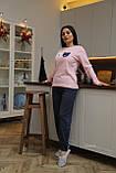 Женская домашняя пижама супер качества со штанами новогодние разные принты, фото 8