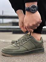 Мужские кроссовки Air Force цвета хаки Аир форс