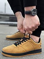 Мужские кроссовки Air Force коричневые Аир форс