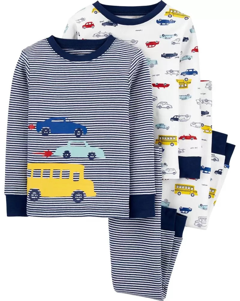 Трикотажні піжами з машинами для хлопчика Картерс (в смужку)