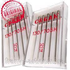 Иглы машинные ORGAN (Япония) JERSEY (трикотаж) для бытовых швейных машин №90/14 5шт