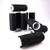 Нитки для шитья 100% полиэстер 40/2 89ярд (81м) черный ПОЛ-(чорн)81яр