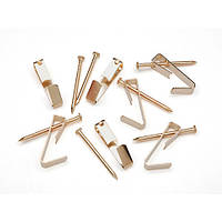 Вешалки для картин крючки с гвоздями латунь 7 шт Darice