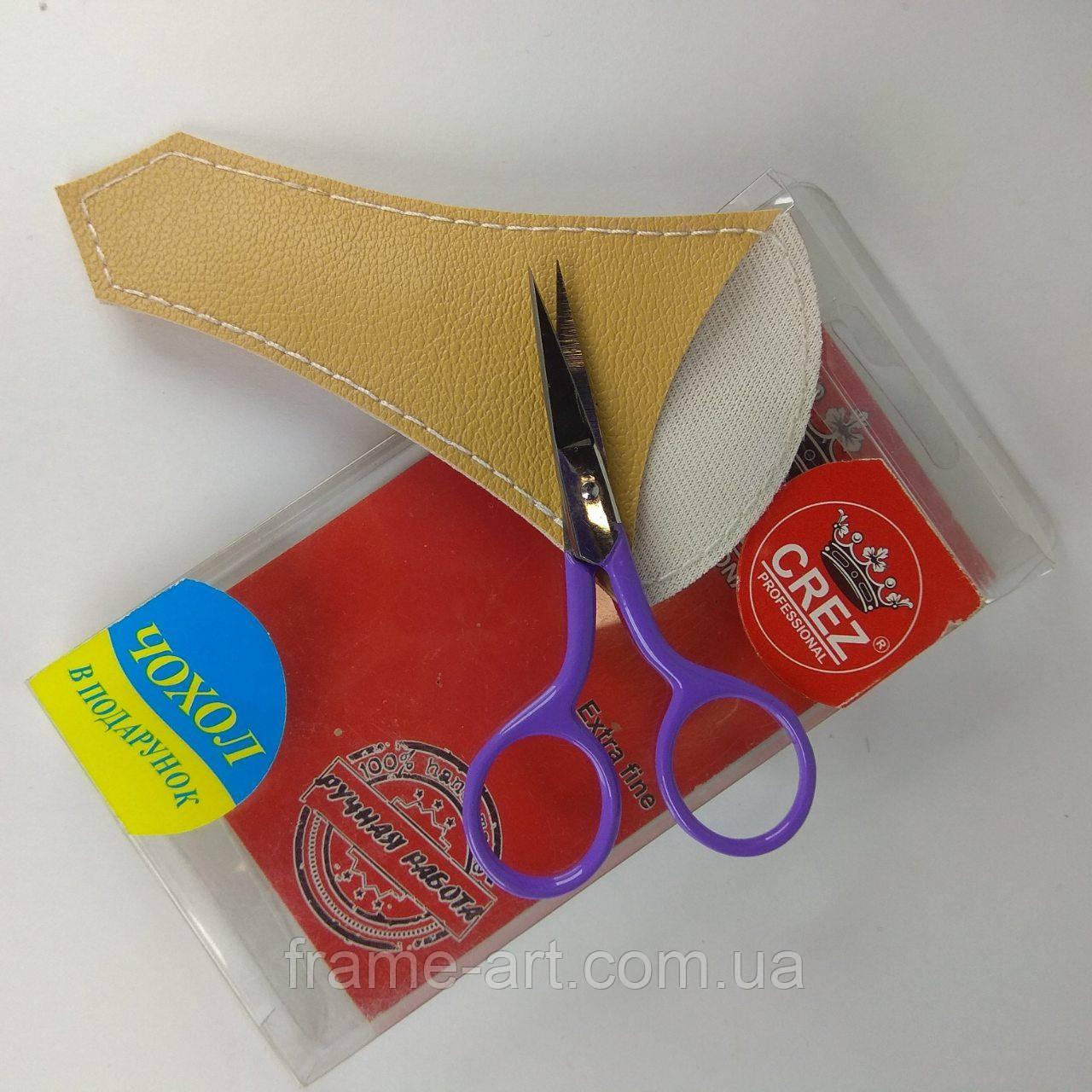 Ножницы маникюрные Crez ногтевые цветные ручная заточка