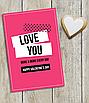 """Романтическая открытка на день Святого Валентина """"Love you more&more..."""", фото 2"""