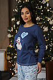 Женская домашняя пижама супер качества со штанами новогодние разные принты, фото 2