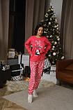 Женская домашняя пижама супер качества со штанами новогодние разные принты, фото 10
