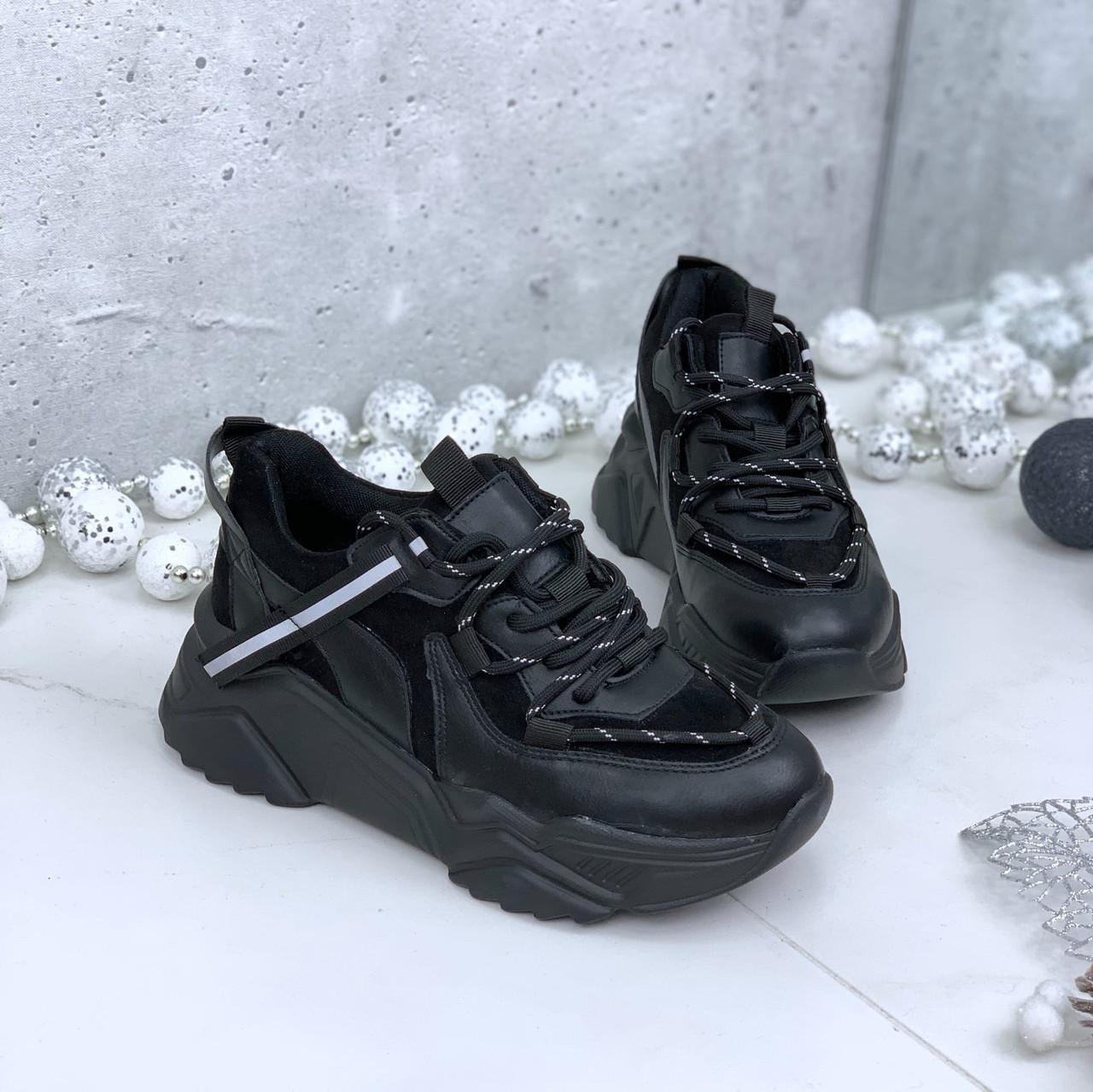 Кроссовки женские черные 212