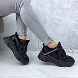 Кроссовки женские черные 212, фото 2
