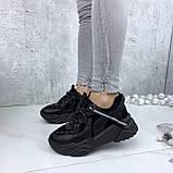 Кроссовки женские черные 212, фото 3