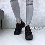 Кроссовки женские черные 212, фото 4