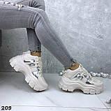 Кроссовки женские бежевые 209, фото 4