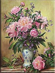 """Набор для вышивания крестиком """" Букет цветов. Пионы"""" 40х50 см"""
