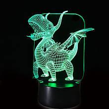 3D Светильник Дракон 13-3